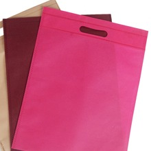 promotional price customized cheap foldable recyclable pp non woven shopping die cut bag
