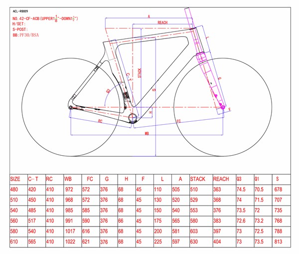 ORGE Full carbon fiber road frame with disc brake through axle ud Di2 aero racing bicycle frame carbon
