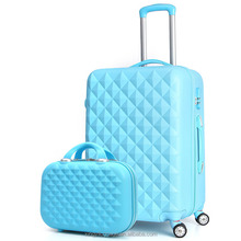 Colorfull travelling luggage with cosmetic case for women or girl trolley cases hard shell suitcases