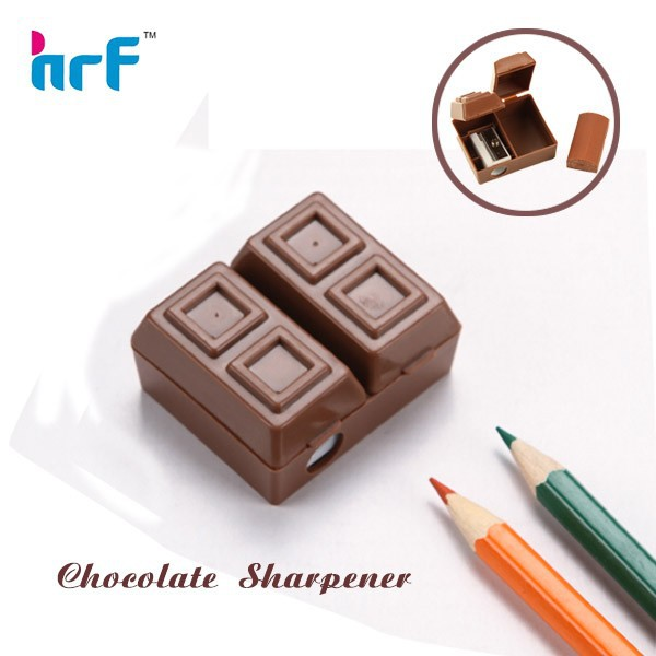 Chocolate Shaped Pencil Sharpener With Eraser