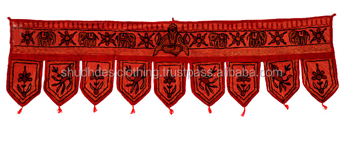 Traditional Embroidery Cotton Door Hanging Toran