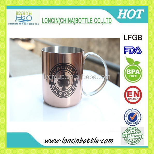 12oz solid copper mug/pass the FDA test stainless steel copper mug/Hot style Moscow mue mug