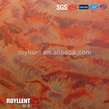 Metallic high pressure laminate sheet/HPL