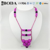 Food Grade Silicone Teething Beaded Necklaces
