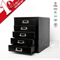 High Quality Metal Dividers 5-Drawer File Storage Cabinets On Office Desk