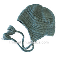 fashion crochet warm earflap hat