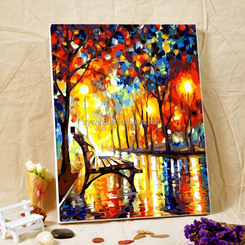 Free Mind Free Painting diy paint by numbers chinese painting for gift and crafts