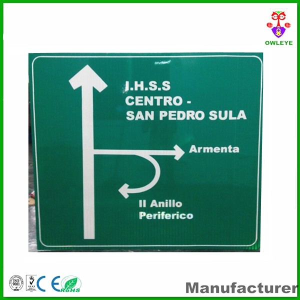 Customized reflective traffic sign
