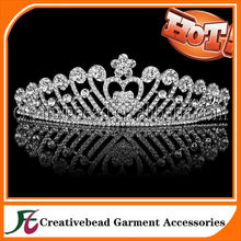 Silver Gorgeous Crystal Accents Bridal Prom Tiara wedding tiara