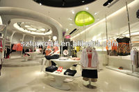 2014 Fashinonable clothing store design with high end quality from factory in China