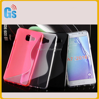 Mobile Back Cover Fancy S Line TPU Case For Samsung Galaxy A7 2016 A710 A710F