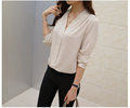 2016 High Quality Women Chiffon Shirt Lady Blouse Design In Guangzhou