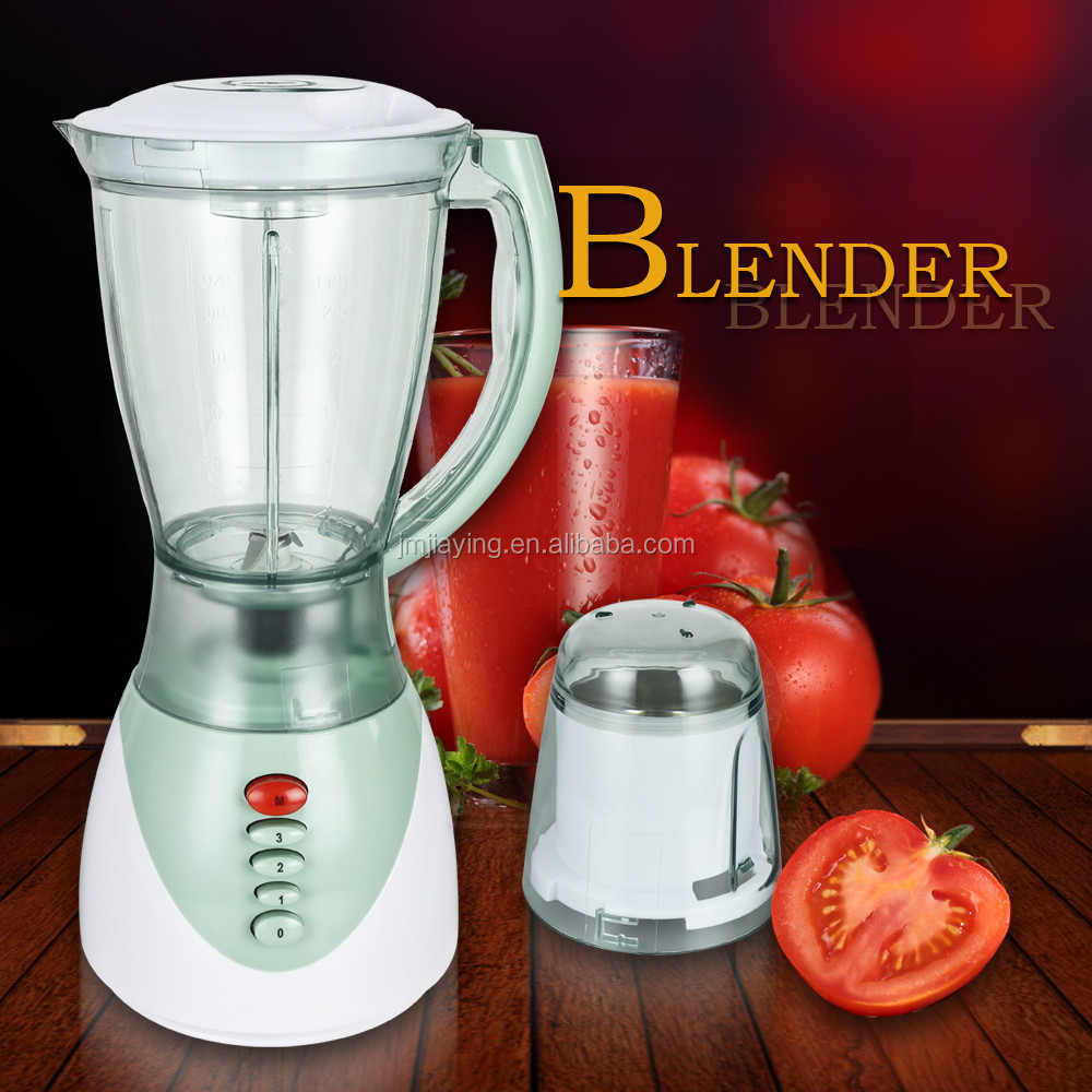 Hot Sell Low Price 1.5L Thicker Plastic Jar 3 Speeds 2 In 1 Electric Fruit Blender