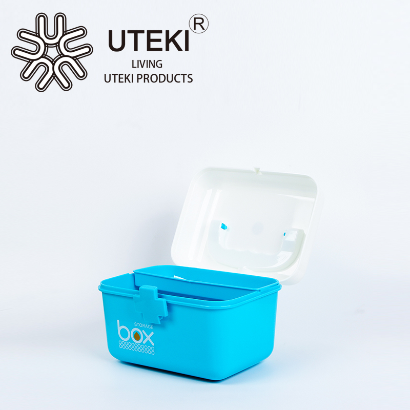 Good quality hot sale blue plastic storage box