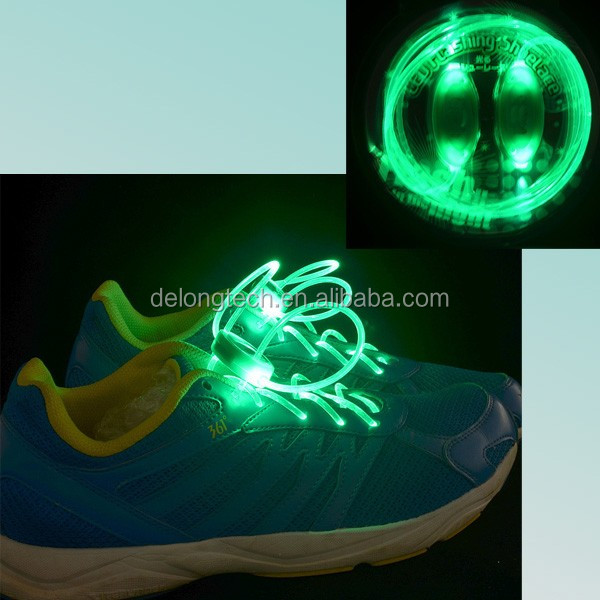 flashing electric shoelaces from China Delong