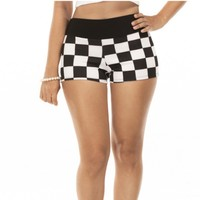 Fancy Micro Shorts Checkmate Mini Hot pants