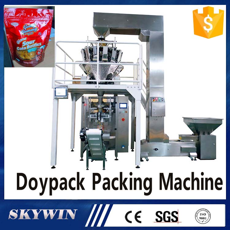 Chocolate Candy Weighing Filling Sealing Doypack Packing Machine Automatic