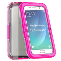 For samsung s7 waterproof hybrid pc+silicon combo case