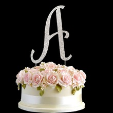 Popular wedding decoration table centerpieces A-Z letters cake topper as bride and groom name Initial