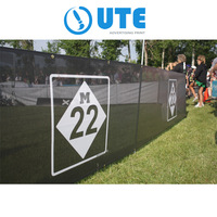 Outdoor Long Roll mesh banner , Custom Printed Temporary Fencing