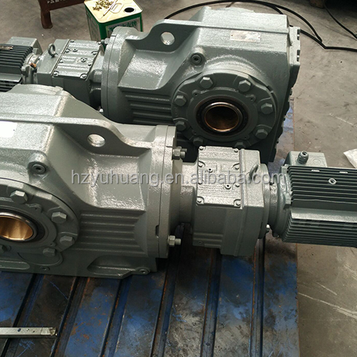 K series hollow shaft mounting gearmotor helical gearbox for Hollow shaft gear motor