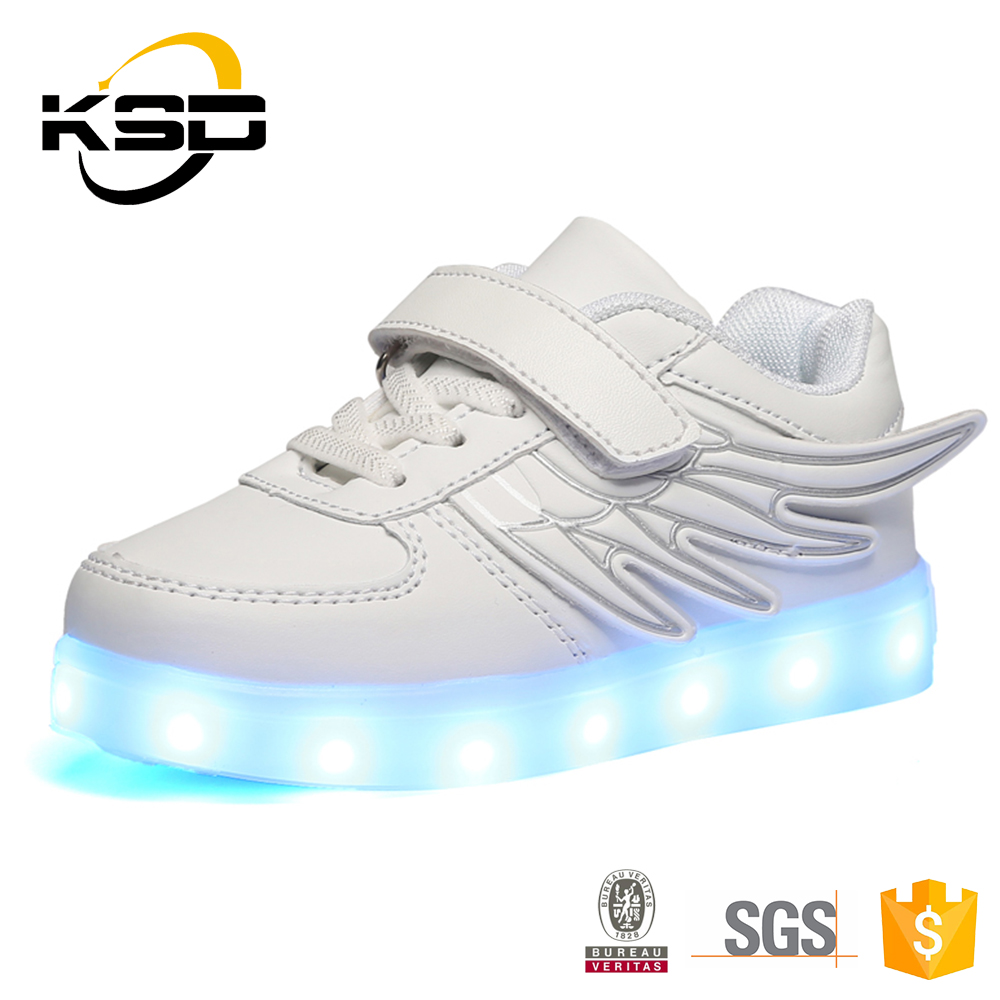 Shiny Casual Shock Absorbing JINJIANG LED Light For Kids Shoes