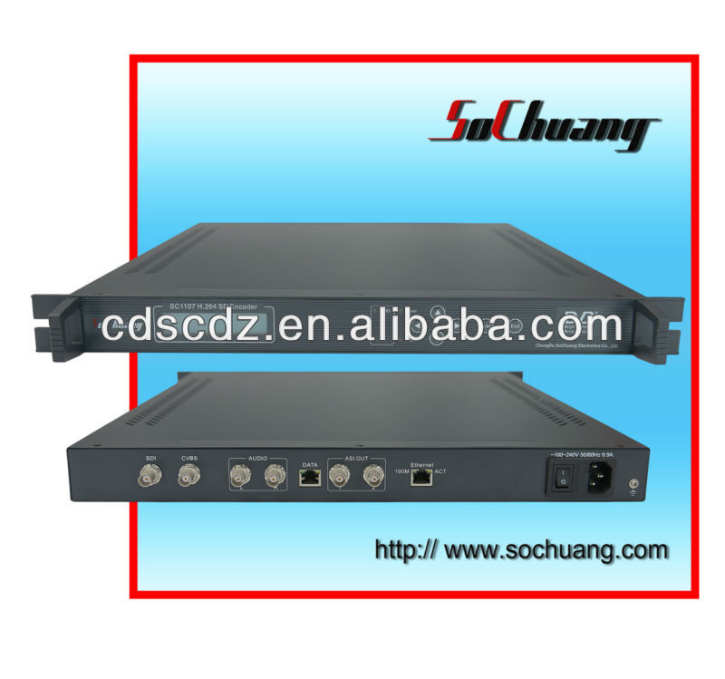 SC-1107 SD H.264 1-Channel IP Encoder (MPEG-4 AVC, AV+SDI in, IP (UDP) /ASI out)