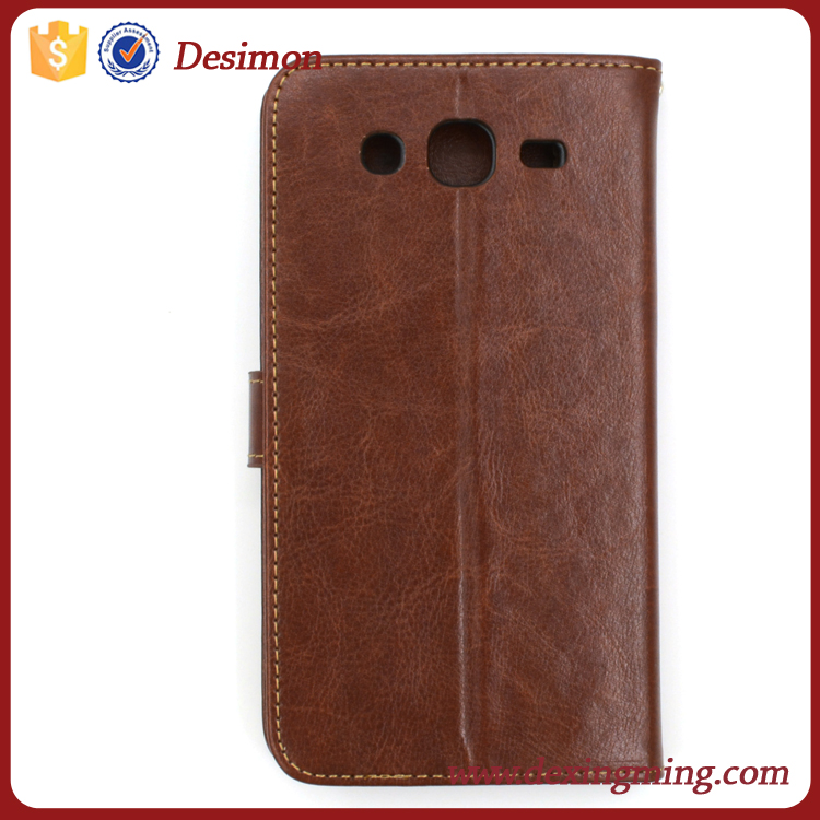 Desimon wallet stand PU Leather cell phone case cover for samsung galaxy mega 5.8 i9152