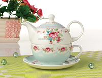 New Royal One Teapot Cup Set Hot Sale From China Fine Bone China Combined Teapot Cup