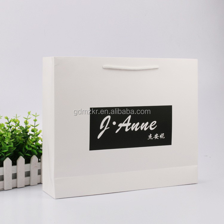 High quality custom printed shopping packaging gift paper bag with logo