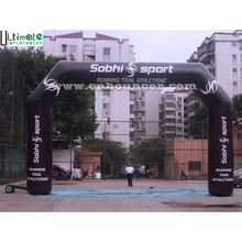 Custom advertising black inflatable archway from China inflatable factory