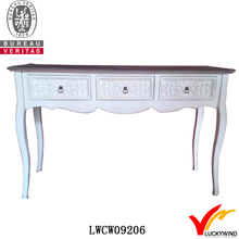 vintage antique style pine white drawer console tables
