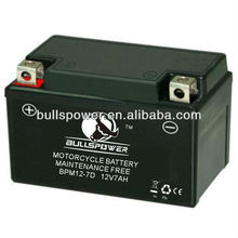 12v 7ah motorcycle battery manufacturer/made in China