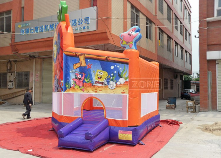 Inflatable cartoon anime picture kids jumping bounce house with window