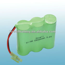flashlight battery backup power supply battery C size 3700mAh ni-mh rechargeable battery 3.6v