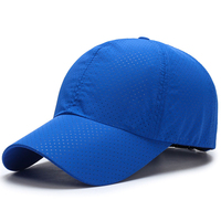 Custom Your Own Logo Cotton Baseball Caps Blue Embroidered Dad Hat