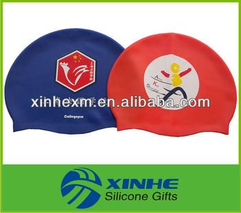 funny college swim caps silicone for wholesale