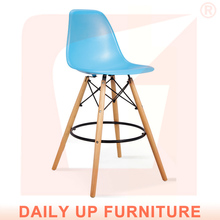 Best Sales Products in Alibaba High Wooden Chair Frame Steel Footrest PP Material ABS Material Seats and Backrest Bar Stools