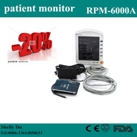 2.8 inch CE Cheap Price High Quality Hospital Vital Sign Monitor (NIBP/SpO2) Multi-Parameter Patient Monitor Price RPM-6000A