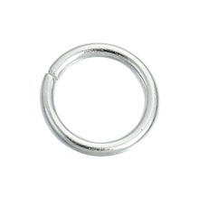 Jewelry Findings Round Platinum Plated 6mm 925 Sterling Silver Opened Jump Rings