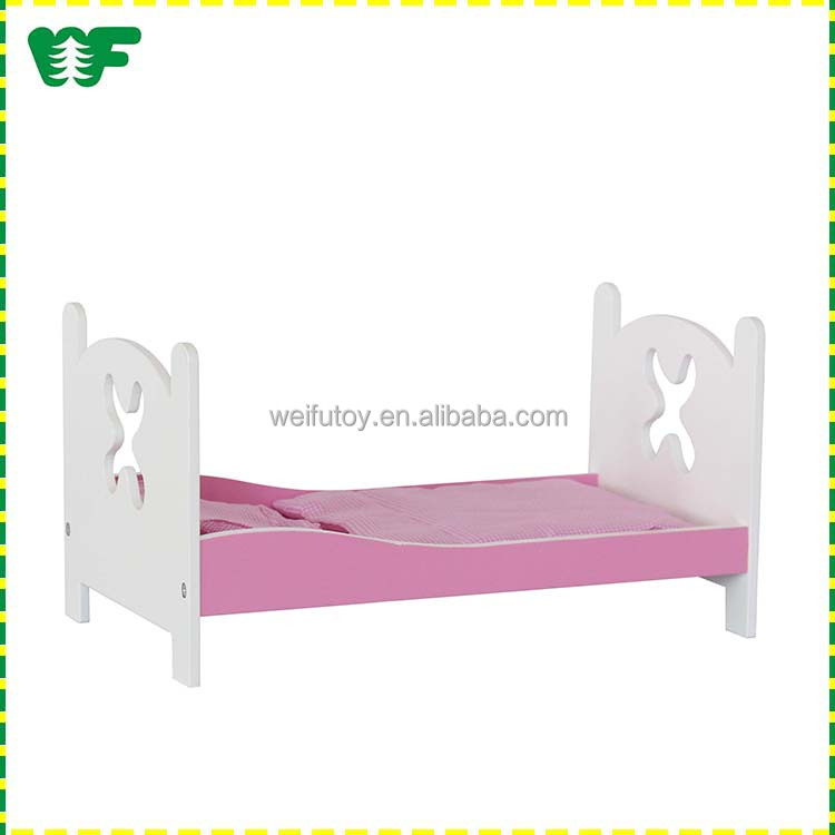 Lovely wooden baby doll bed , doll bed