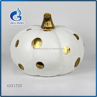 artifical white pumpkin ceramic halloween pumpkin wholesale