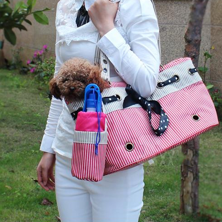 Cotton Pet Carrier/Cat Bag Easy to Carry/Cute Dog Bag