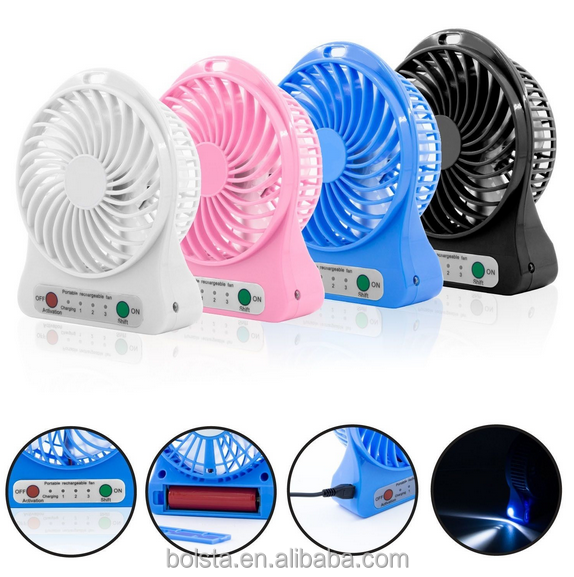 new Desk Desktop Table Electric Quiet Fan with LED Light usb fan mini