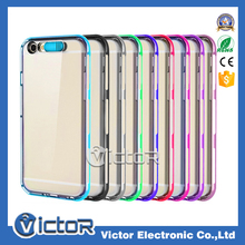 Flash light TPU+PC case for apple iPhone 6 case with update design