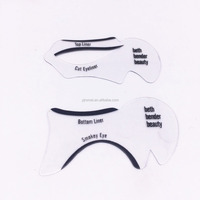 Hot sale!!!PVC material eyeliner card,make up tools
