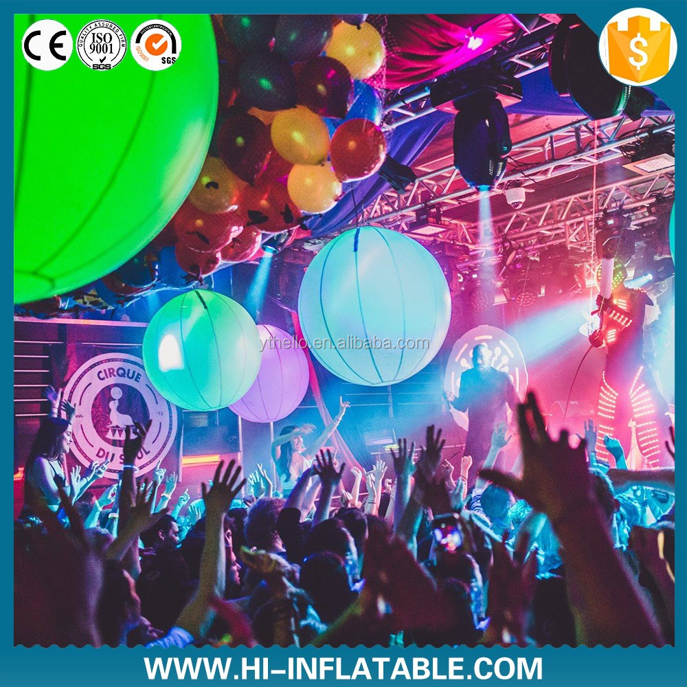 inflatable led balloon Nightclub club decoration giant inflatable hanging led ball