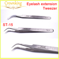 Eyelash extension kits, curved tweezer for eyelash exension