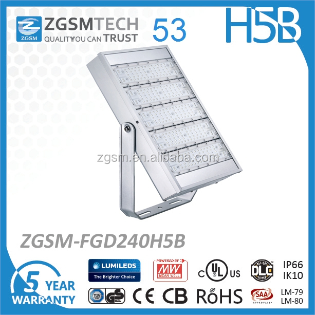 Low cost 240W LED Floodlight for Tennis Court or Basketball Court lighting