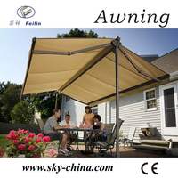 Retractable awning small window awning